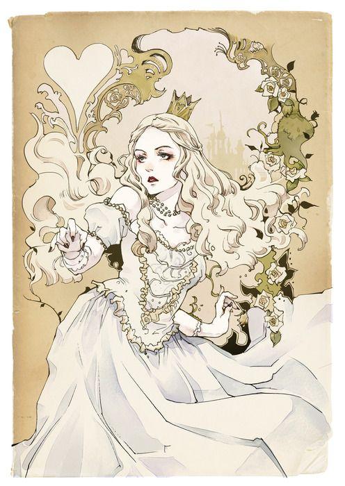 Resultado de imagem para fanart rainha branca alice
