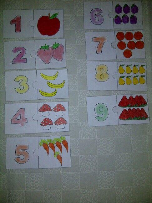 Nesne - sayı eşleştirme kartları