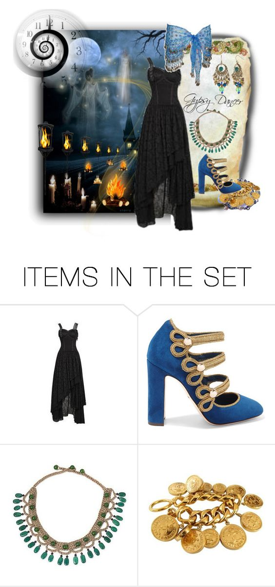 """""""Gypsy Lights on Halloween Night"""" by rainheartcreations ❤ liked on Polyvore featuring art"""