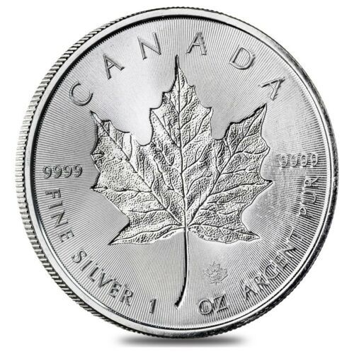 2019 1 Oz Silver Canadian Incuse Maple Leaf 9999 Fine 5 Coin Bu Ebay Silver Maple Leaf Silver Coins Coins