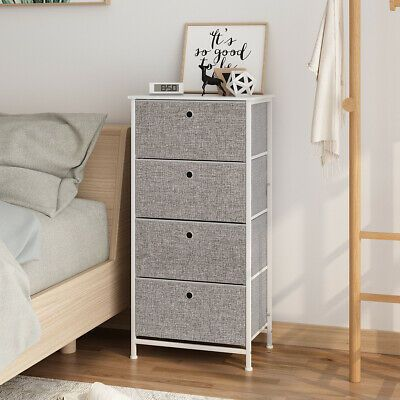 Advertisement 4 Tier Dresser Tower Chest Clothes Storage Modern Bedroom Cabinet With 4 D In 2020 Storage Furniture Bedroom Bedroom Cabinets Clothes Storage Organizer