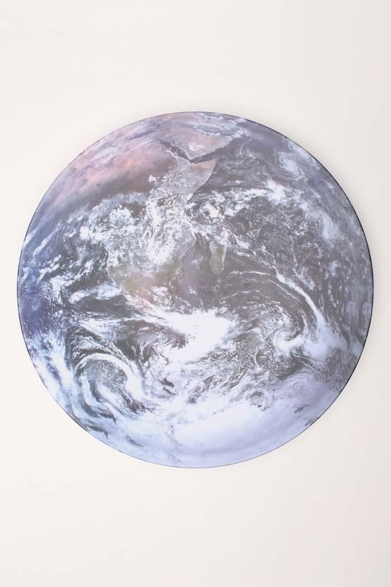 KIKKERLAND EARTH SERVING BOWL @ uncovet // look at the next pin on this board to see the side view. this is wicked. #earth #world