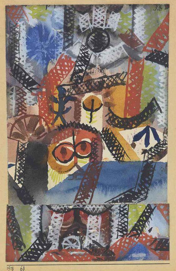 Paul Klee (1879-1940)  Barbarische Komposition