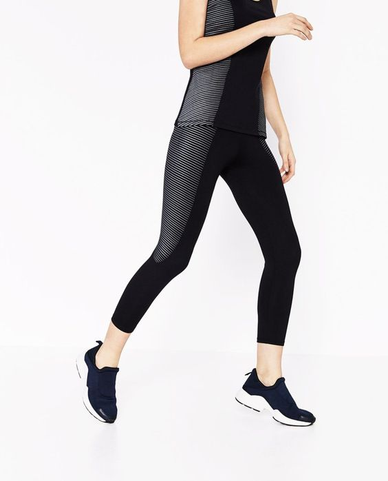 Pin for Later: Zara's neue Sportkollektion macht Lust aufs Fitnessstudio  Zara knöchellange Leggings (20 €)