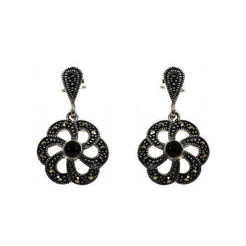 Indian Jewelry Black Onyx Sterling Silber Ohrringe Handmade in Indien von ShalinIndia, http://www.amazon.de/gp/product/B00AE6ROU4/ref=cm_sw_r_pi_alp_anVWqb1BB7X02
