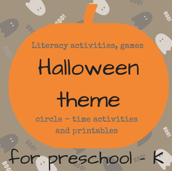 Activities themed parties and circles on pinterest for Halloween party games for preschoolers