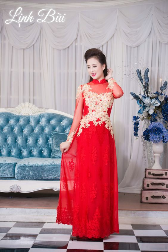 Chọn áo dài cưới đẹp nhất cho cô dâu xinh đẹp trong ngày ăn hỏi