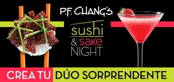 Ven y disfruta de un extraordinario sushi acompañado de un refrescante Sake Cocktail. Ya comenzamos, te esperamos. #SushiAndSakeNight