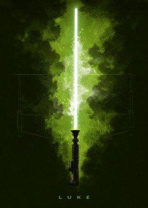 Luke Poster Print By Star Wars Displate Star Wars Background Star Wars Painting Star Wars Wallpaper