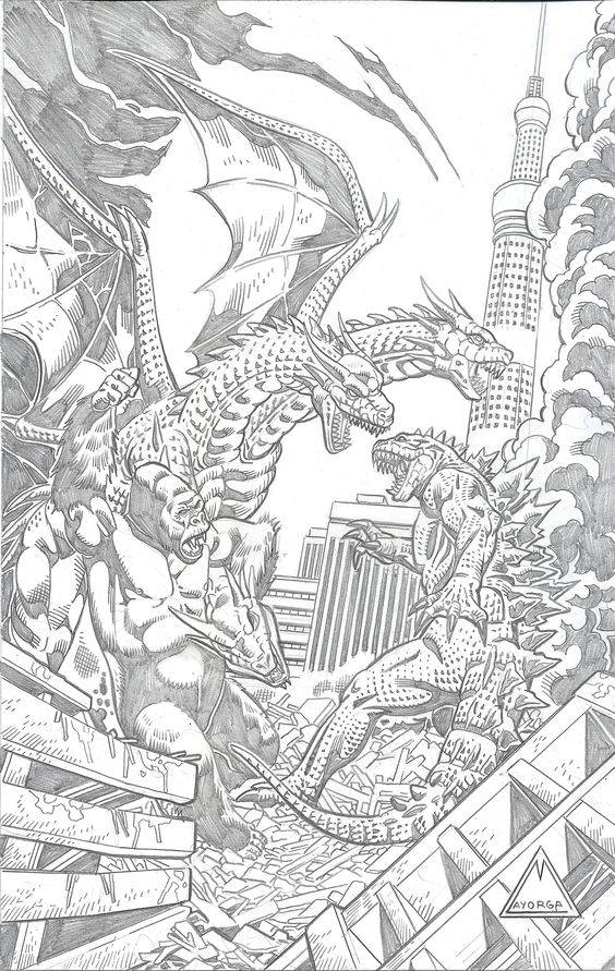 KING KONG AND GODZILLA VS GHIDORAH Monsters Pinterest