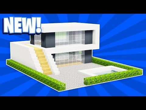 MINECRAFT: HOW TO BUILD A SMALL MODERN HOUSE TUTORIAL (#17 ...