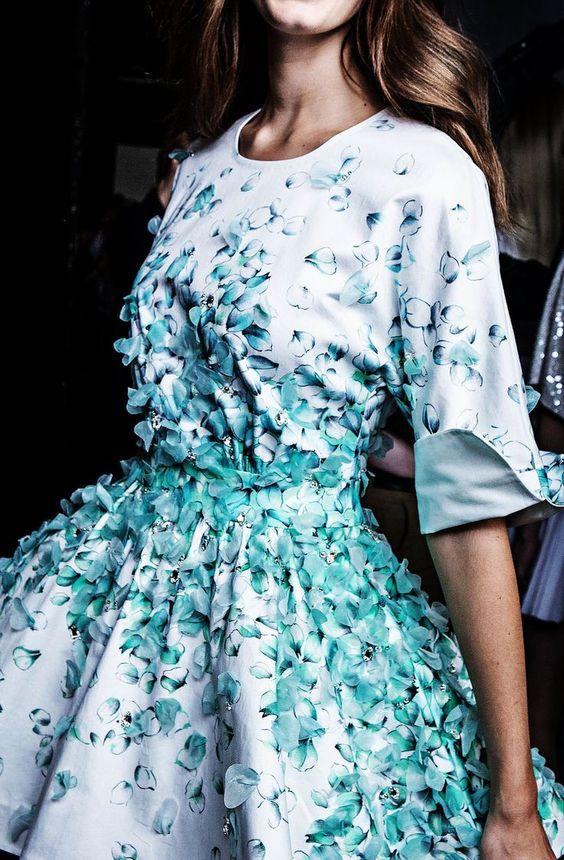 Blumarine Petal Print Dress