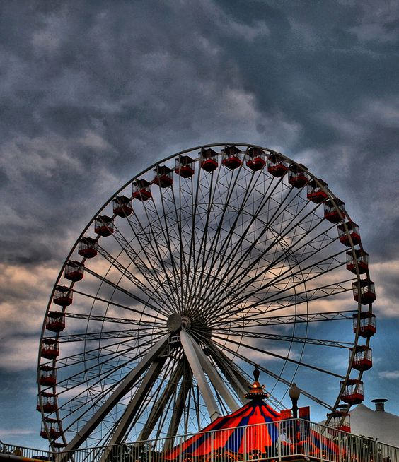 Ferris Wheel- Navy Pier, Chicago, Illinois-AP