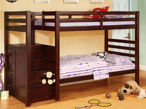 lit superpos avec escalier photo chambres d 39 enfants. Black Bedroom Furniture Sets. Home Design Ideas