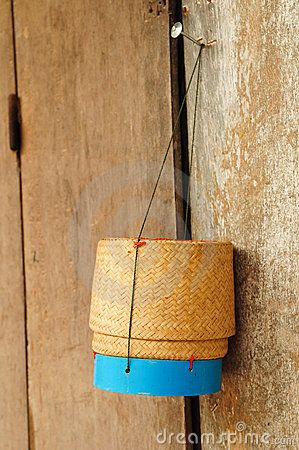 Rice box made ​​of bamboo