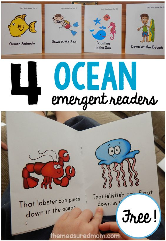 Get these free ocean emergent readers for your beginning reader... they're great to use alongside an ocean animals unit!