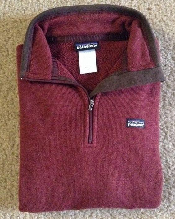 Patagonia Womens Quarter Zip Sweater Pullover Sz M / c #Patagonia #CoatsJackets