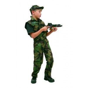 Deguisement militaire soldat commando enfant garçon pour fêtes et carnaval.