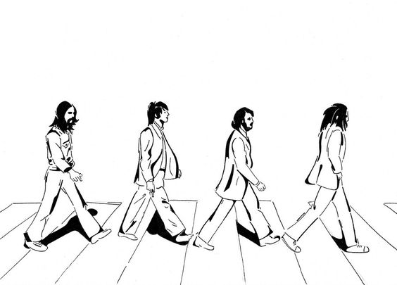 The Beatles on Abbey Road by Krullie   LineArt: The Beatles   Pinterest
