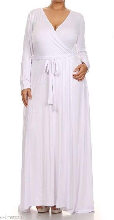 Maxi dress white jersey