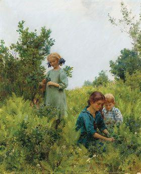 Charles Courtney Curran: Die Blaubeer-Ernte. 1911