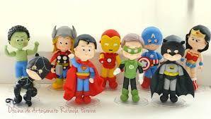personagens super herois de biscuit - Pesquisa Google