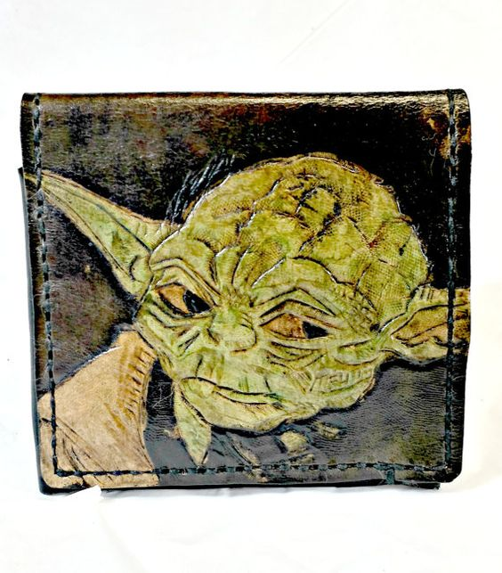 Yoda WalletTry Not.Do or Do by WorldofLeathercraft on Etsy