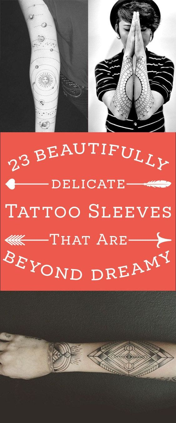 23 Beautifully Delicate Tattoo Sleeves That'll Make You Want To Get Inked