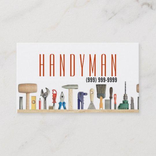 Maintenance Construction Handyman Business Card Zazzle Co Nz Handyman Business Business Cards Handyman