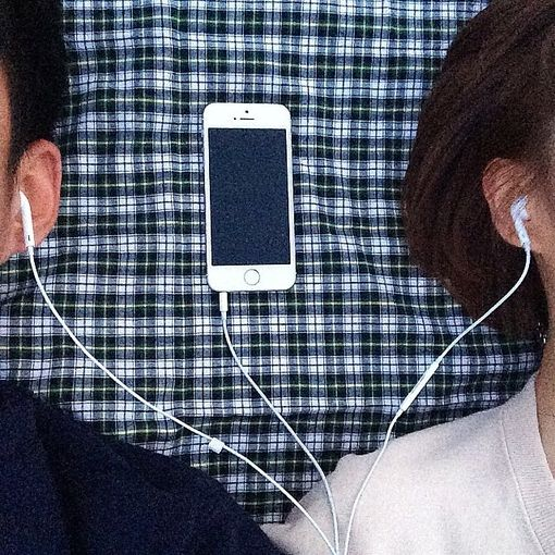 sharing earphones + laying in the sun together   #couple #love #relationship