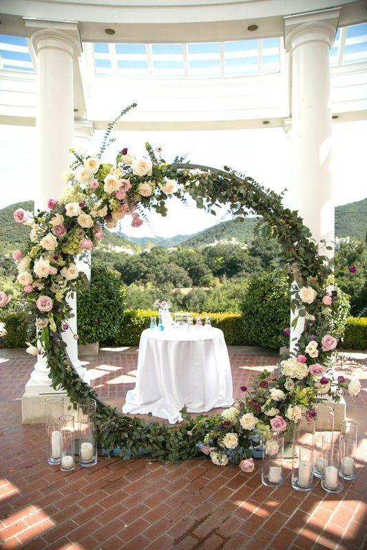 Circle And Semi Circle Arch Wedding Party Rentals In San Diego Ca Vintage Wedding Flower Arrangements Wedding Archway Wedding Arch