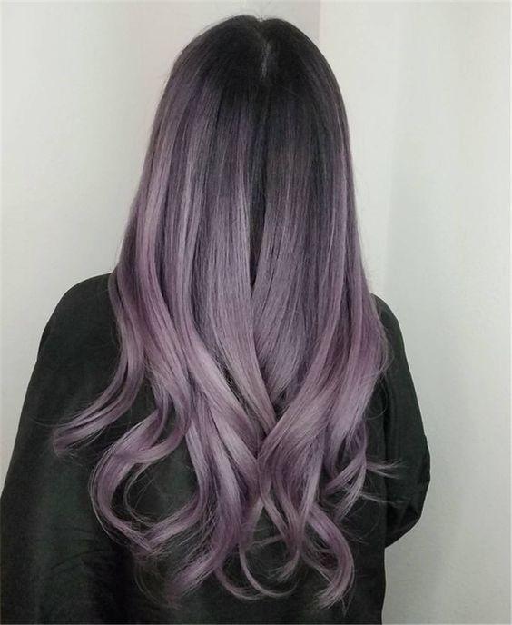 Cabello Color Violeta Para Morenas Cabello De Color Lavanda