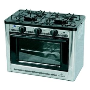 Stainless Steel 2 Burner Propane Stove And Oven Spaces