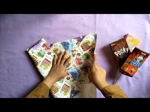2 Cara Membuat Buket Snack Wisuda Dengan Kertas Kado | DIY BUKET ...