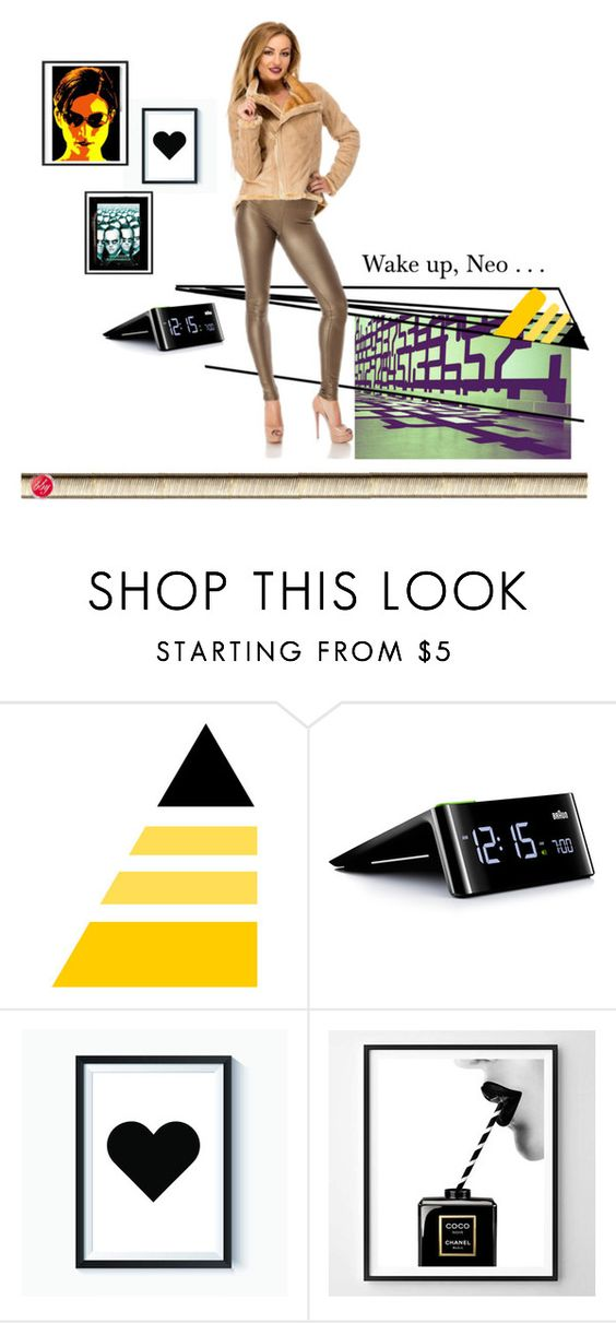 """""""The Matrix has you."""" by teambby ❤ liked on Polyvore featuring Braun and Chanel"""