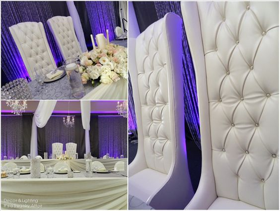 Swarovski Crystal Bride Groom Throne Chairs By Modish Lounge Rentals Windsor ON Modishrentalsca
