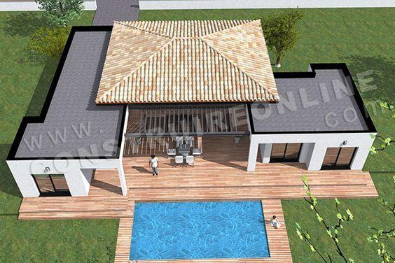 plan de maison moderne plain pied TEMPLATE (7) ARCHITECTURE MAISON - plans de maison moderne