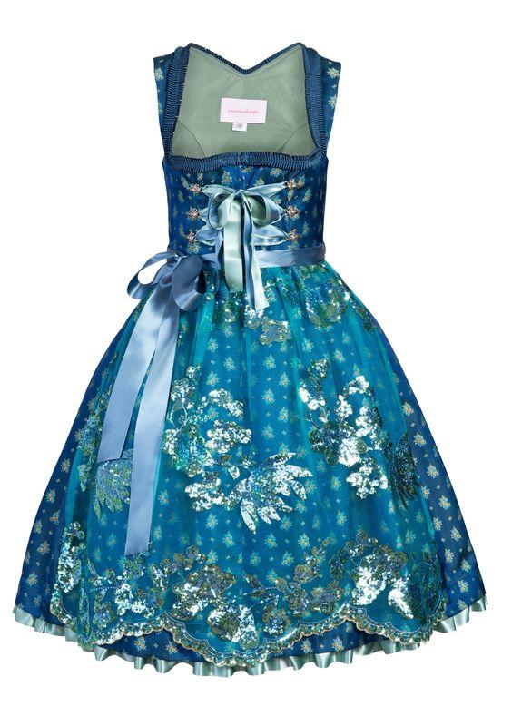#Farbbberatung #Stilberatung #Farbenreich mit www.farben-reich.com Ausgefallenes Designer Dirndl Muriel in Türkis-Blau   Dirndltopia