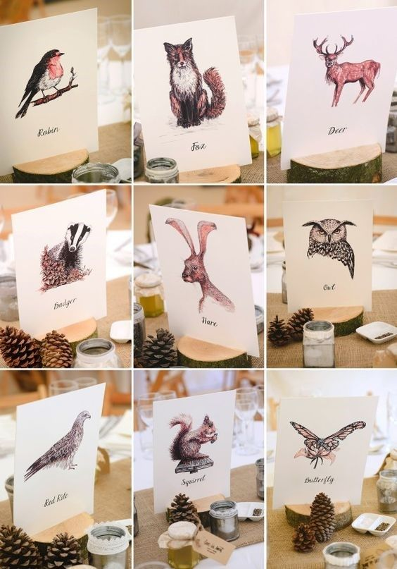 Vintage Swallows Table Names  Numbers Table Plan Wedding Day | On the Day Stationery