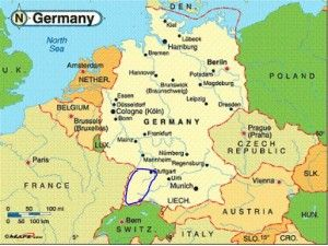Black Forest, Germany, map