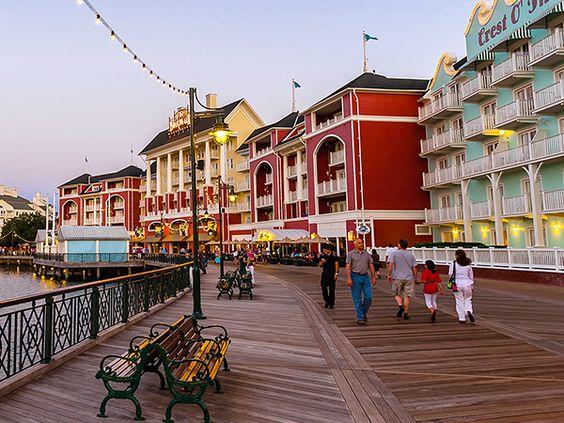 Walt Disney World's boardwalk at twilight  Photograph by Blaine Harrington III, Alamy  Free Things to Do in Orlando