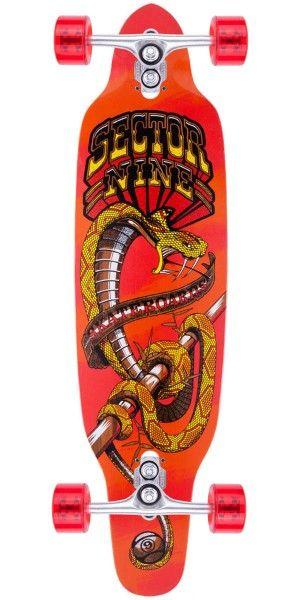 Sector 9 Striker Longboard Skateboard Complete - Red