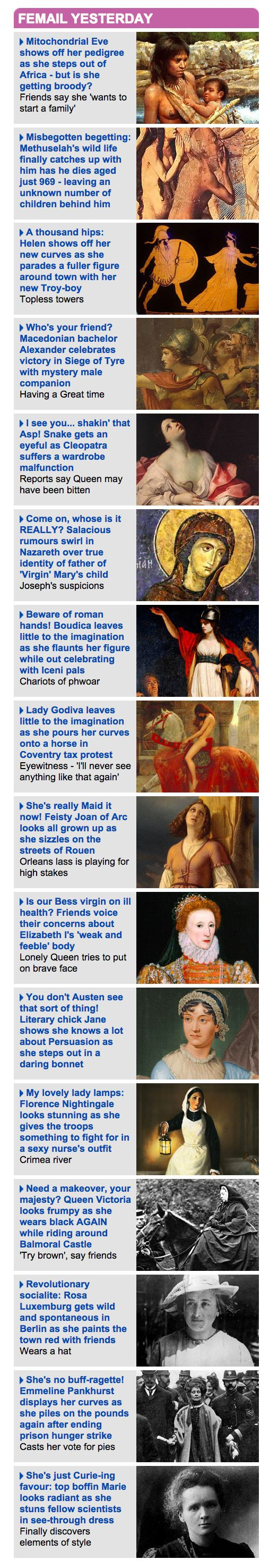 The History Of The World According To The Daily Mail Sidebar Of Shame