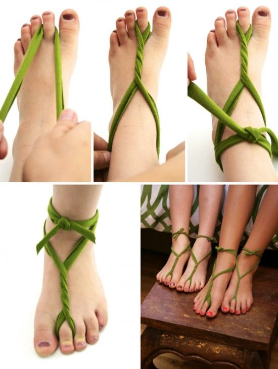 The Easy, 5 Minutes Barefoot Sandals - How to Make Barefoot Sandals – 3 Popular Styles - EverAfterGuide
