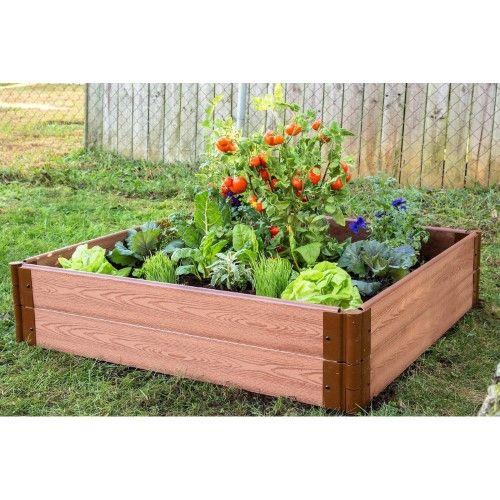 Frame It All 1 Inch Series Composite Raised Garden Bed Kit 4ft