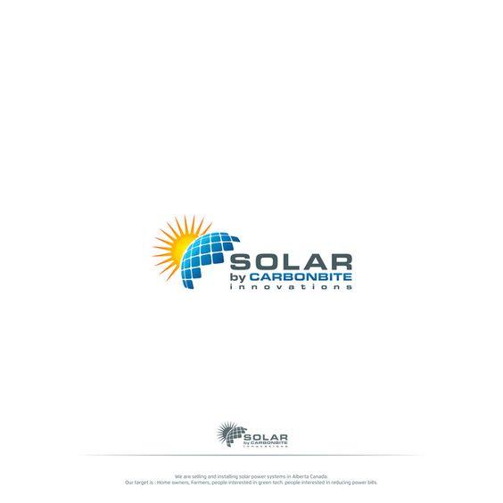 solar panel earth and sun logo design