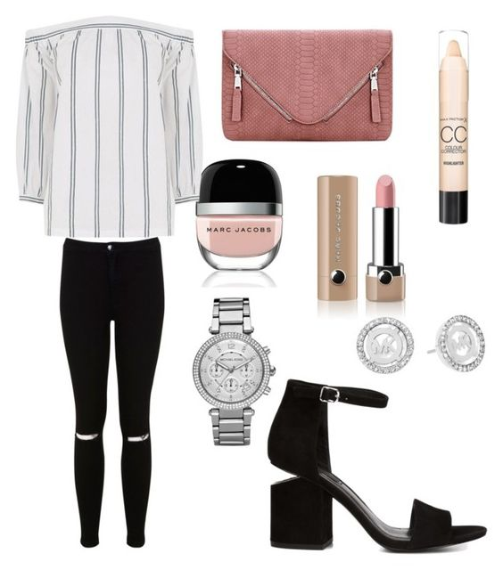 """Dressy Spring Outfit"" by kenzieshae-1 on Polyvore featuring Marc Jacobs, Alexander Wang, Warehouse, Miss Selfridge, Max Factor and Michael Kors"