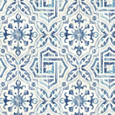 Sonoma Spanish Tile Wallpaper From The Vineyard By Brewster Lelands Tile Wallpaper Spanish Style Bathrooms Spanish Style Homes