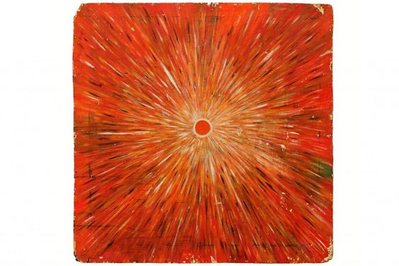 Reverend Albert Wagner (1924–2006), Sunburst, 1988, Acrylic paint on plywood, 38 x 37 3/4 inches.