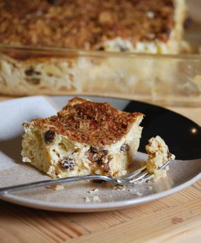 Cream Cheese Noodle Kugel. Great for break the fast or breaking passover or any time. Can use low fat /low sugar substitutes easily.